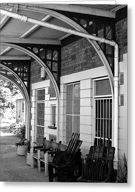 Train Station2 Greeting Card by Bridgette  Allan