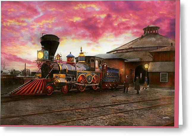 Train - The Jh Devereux 1862 Greeting Card