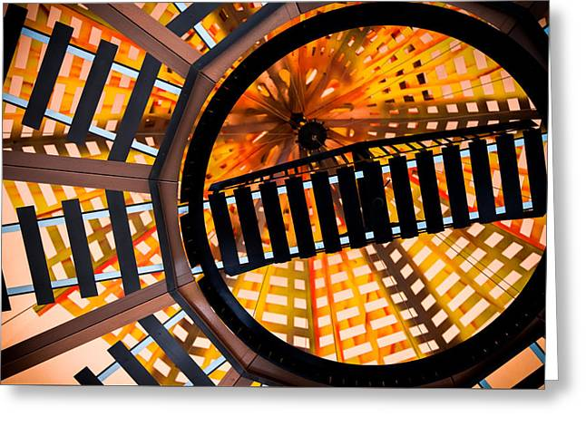 Train Track Abstract Greeting Card by Karen Wiles