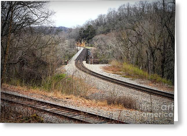 Train Tracks Across The New River - Radford Virginia Greeting Card
