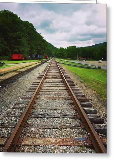 Greeting Card featuring the photograph Train Tracks by Linda Sannuti