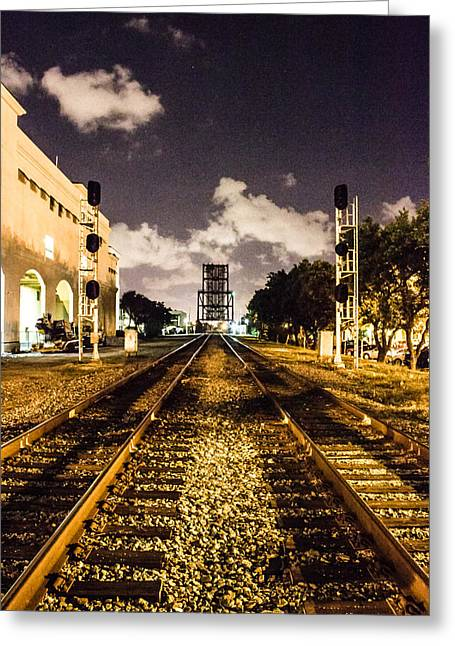 Train Tracks Greeting Card