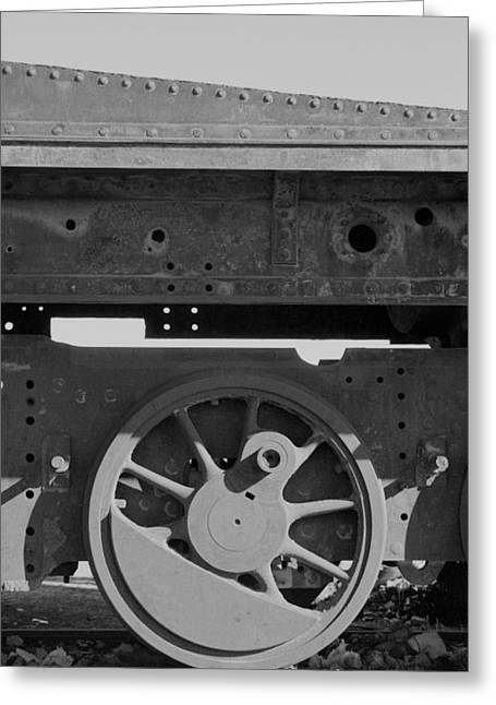Train Wheel Greeting Card by Marcus Best