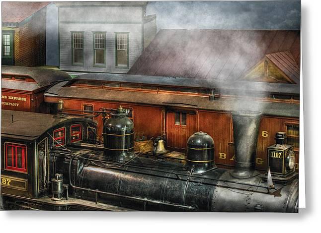 Train - Yard - The Train Yard II Greeting Card by Mike Savad
