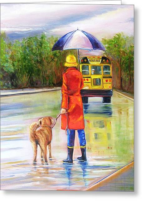 Training Lessons Greeting Card by Yvonne Dagger