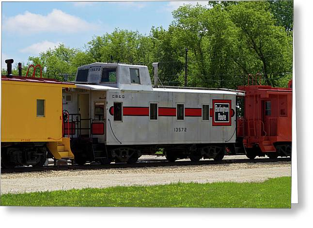 Trains Caboose 13572 Burlinton Route 02 Greeting Card