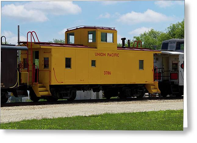 Trains Caboose 3786 Union Pacific Greeting Card