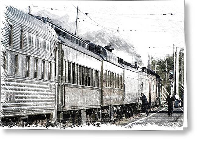 Trains Steam Engine All Aboard Pa 01 Greeting Card