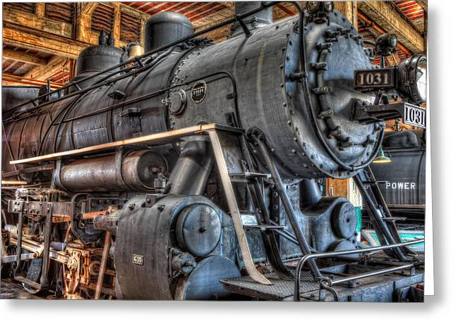 Trains - Steam Locomotive 1031 Side Greeting Card by Dan Carmichael