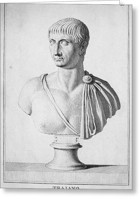 Recently Sold -  - Statue Portrait Greeting Cards - TRAJAN (c52-117) Greeting Card by Granger