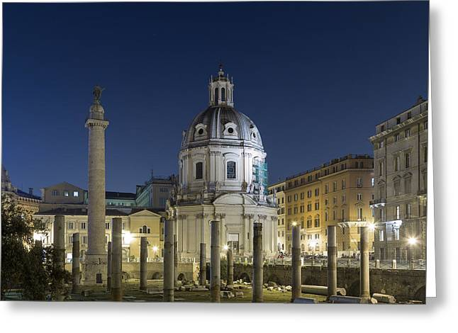 Trajans Forum Greeting Card by Travel and Destinations - By Mike Clegg