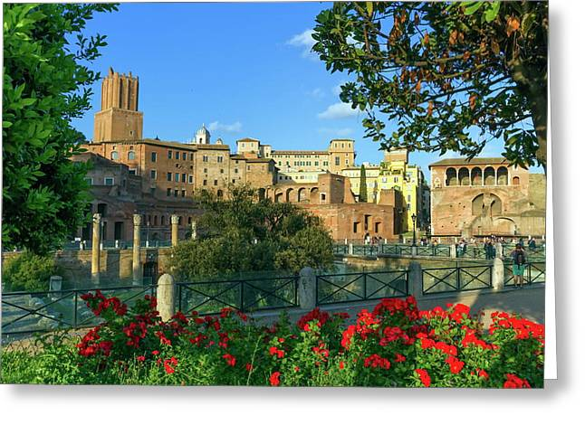 Trajan's Forum, Traiani, Roma, Italy Greeting Card