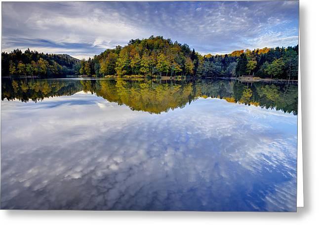 Trakoscan Lake In Autumn Greeting Card