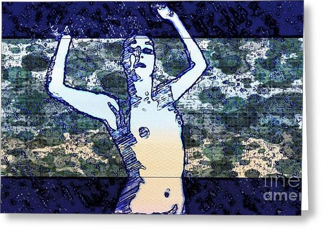 Trance Girl No. 2 By Mary Bassett Greeting Card
