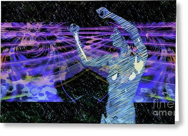Trance Girl No. 4 By Mary Bassett Greeting Card
