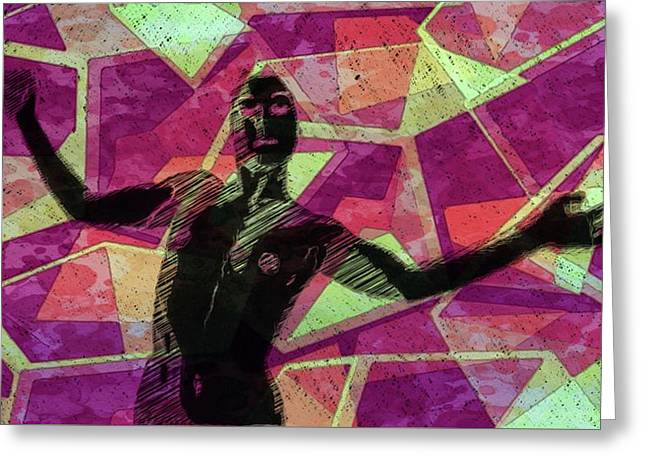 Trance Girl No. 6 By Mary Bassett Greeting Card