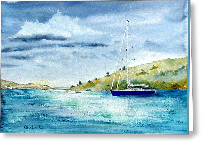 Tranquil Anchorage Greeting Card