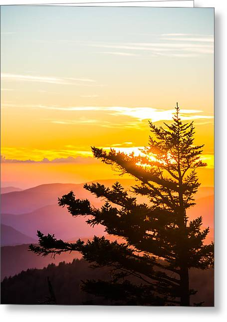 Tranquil Colors Vertical Greeting Card by Shelby Young