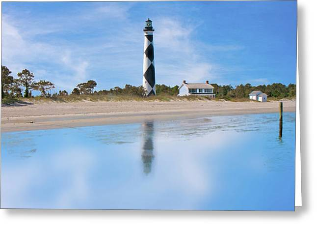 Tranquil Day Cape Lookout Lighthouse Greeting Card by Betsy Knapp