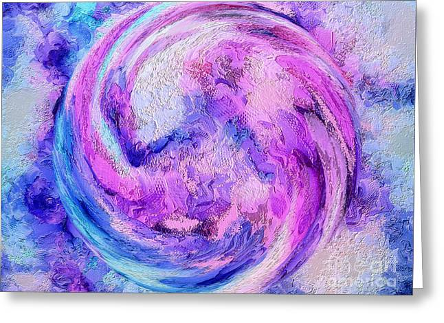 Tranquil Energy Greeting Card by Krissy Katsimbras