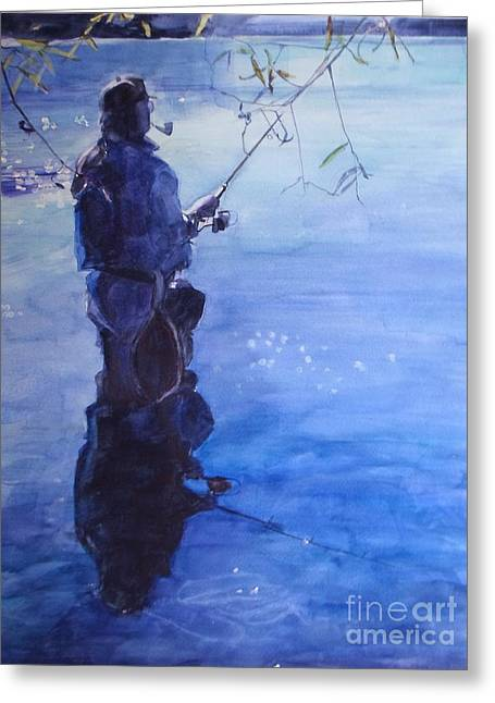 Watercolor Tranquil Fishing Greeting Card