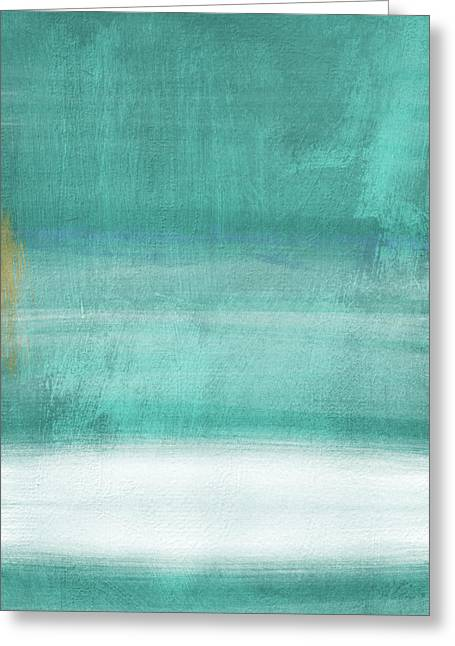 Tranquil Horizon- Art By Linda Woods Greeting Card by Linda Woods