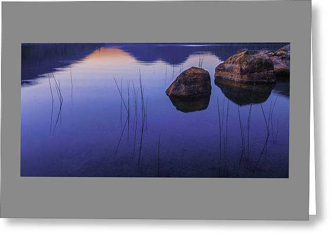 Tranquil In Blue   Greeting Card by Thomas Schoeller