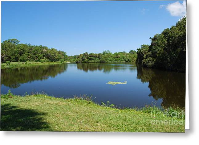 Greeting Card featuring the photograph Tranquil Lake by Gary Wonning