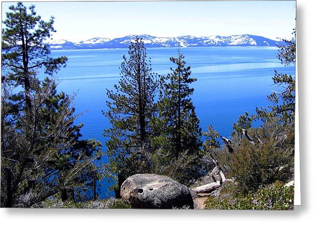 Tranquil Lake Tahoe Greeting Card
