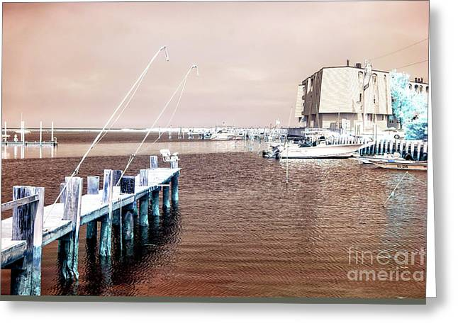 Tranquil Morning Infrared Greeting Card by John Rizzuto