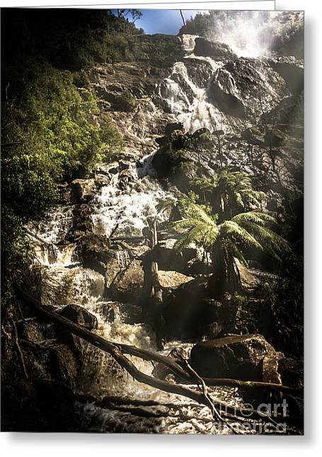 Tranquil Mountain Canyon Greeting Card