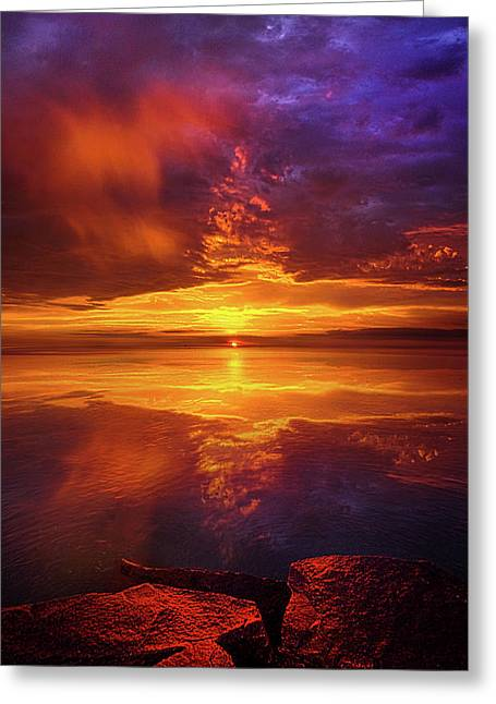 Tranquil Oasis Greeting Card by Phil Koch