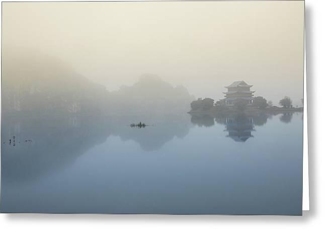 Vietnam - Tranquil Pagoda Greeting Card by Martin Capek