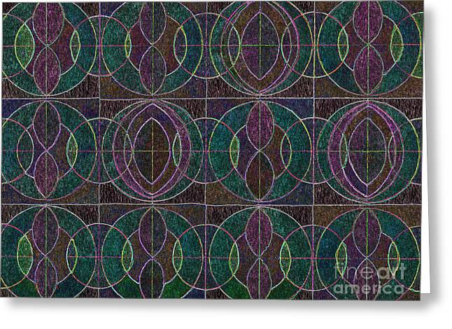 Tranquil Pattern Greeting Card by Norma Appleton