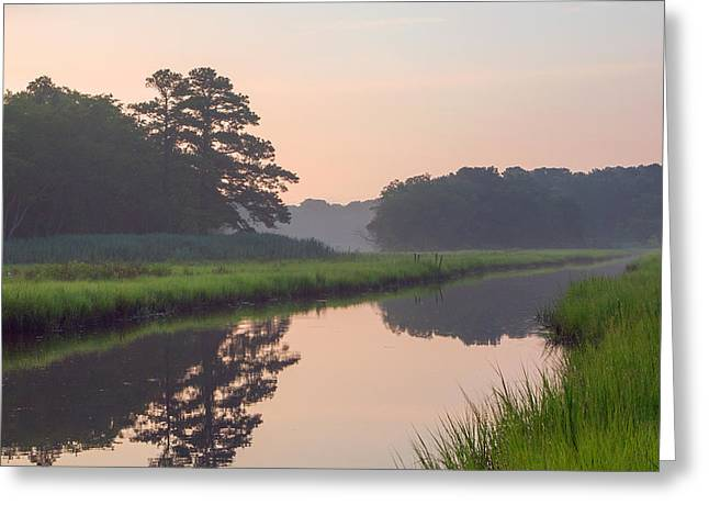 Tranquil Reflections Greeting Card by Allan Levin