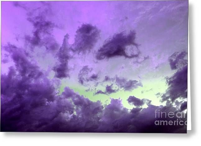 Tranquil Storm Greeting Card by Krissy Katsimbras