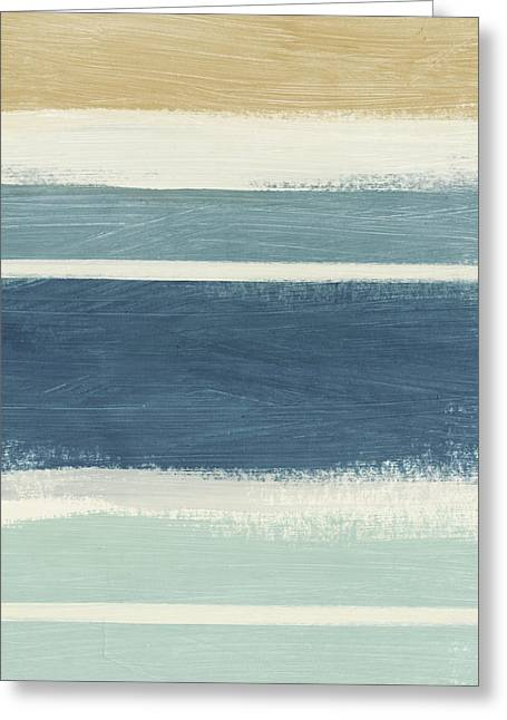 Tranquil Stripes- Art By Linda Woods Greeting Card