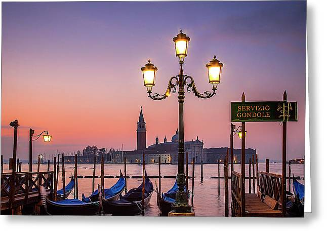 Greeting Card featuring the photograph Tranquil Venice by Andrew Soundarajan