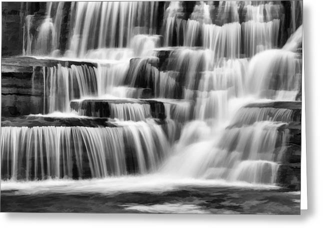 Tranquil Waters Abstract Greeting Card by Stephen Stookey