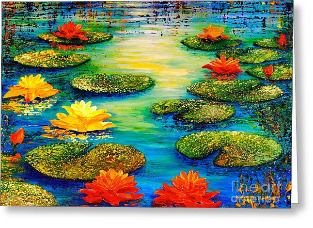 Tranquility 3 Greeting Card by Teresa Wegrzyn