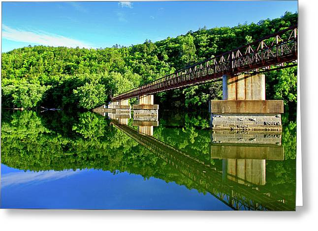 Tranquility At The James River Footbridge Greeting Card