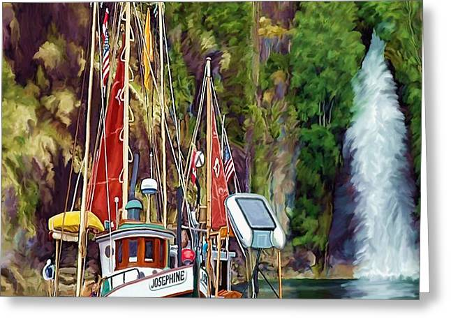 Tranquility Greeting Card by David Wagner