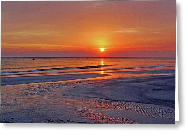 Tranquility - Florida Sunset Greeting Card by HH Photography of Florida