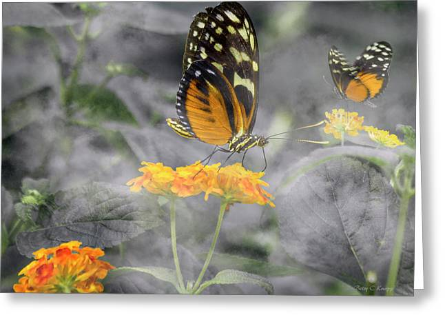 Tranquility Garden Greeting Card by Betsy Knapp