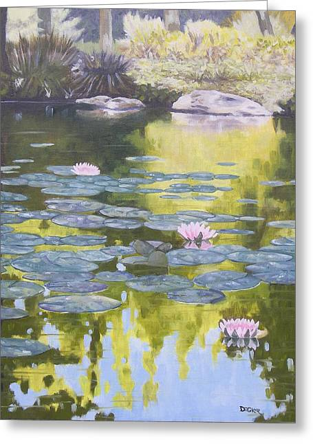 Greeting Card featuring the painting Tranquility IIi Furman University by Robert Decker