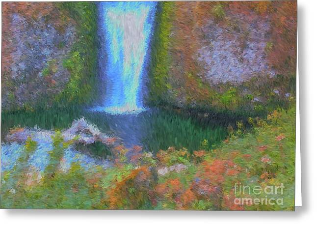 Tranquility Greeting Card by Methune Hively