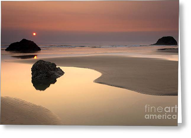 Tranquility Greeting Card by Mike  Dawson