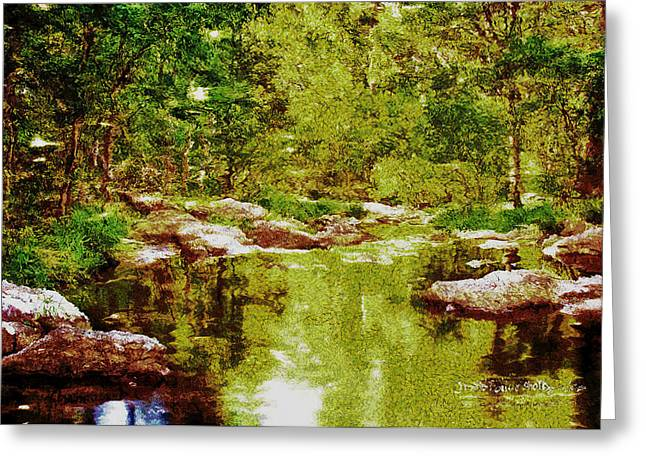 Tranquility Mirage Greeting Card by Mario Carini