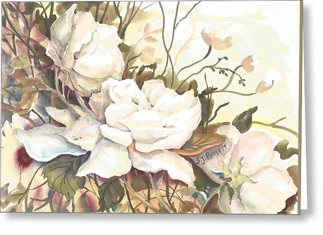 Tranquility Study In White Greeting Card