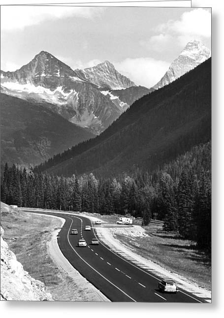 Trans-canada Highway Greeting Card by Underwood Archives